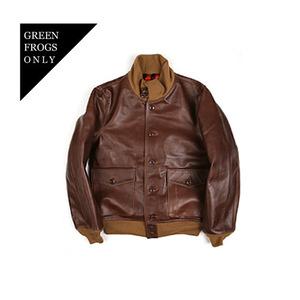 <B>SWELLMOB</B><br>SFS A-1 leather jacket<br>-brown-